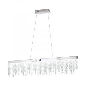 Stalen hanglamp Ray chroom