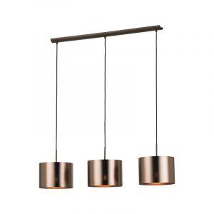 Stalen hanglamp Noa bruin