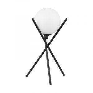 Zwarte retro tafellamp, Tjardo, staal