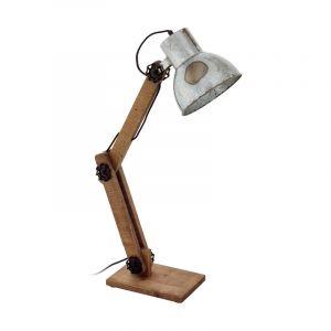 Bruine klassieke tafellamp, Parisa, hout