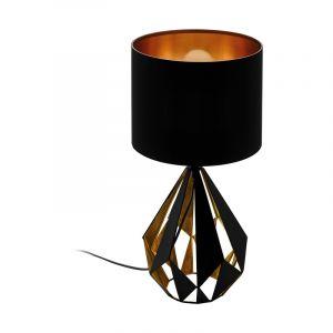 Zwarte design tafellamp, Acri, staal