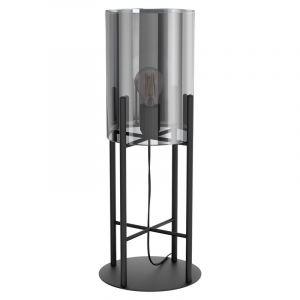 Zwarte retro tafellamp, Patty, staal