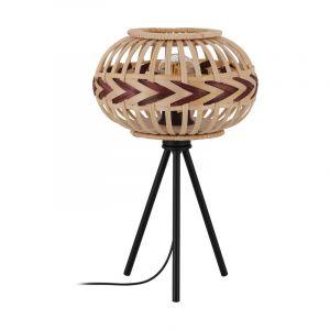 Zwarte landelijke tafellamp, Nicolette, staal