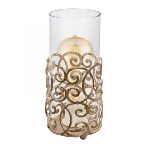Landelijke Klassieke Glazen Bruine Transparante tafellamp Karlotta