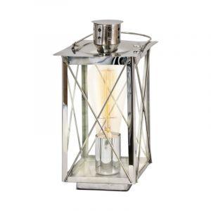 Landelijke Klassieke Glazen Chroom Transparante tafellamp Kathy