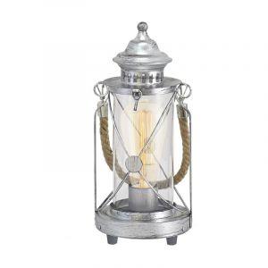 Landelijke Klassieke Glazen Zilveren Transparante tafellamp Kausar
