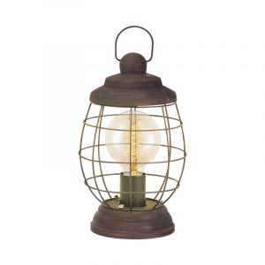 Landelijke Klassieke Bruine tafellamp Keke