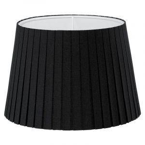 Klassieke lampenkap Noah Textiel/Geplooid Zwart