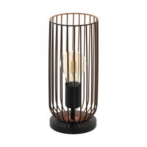 Zwarte industriële tafellamp, Silje, staal
