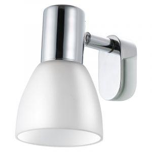 Ablanc spiegellampje met gleuf voor op de spiegel