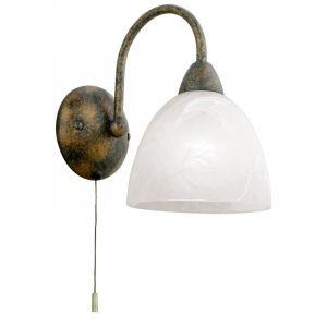 Roestkleurige wandlamp Lestal Bolvormig glaasje