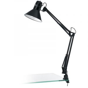 Stalen tafellamp Jordin zwart