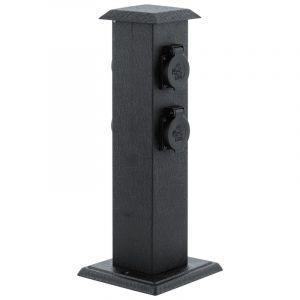Ke buitenstopcontact staal kunststof zwart