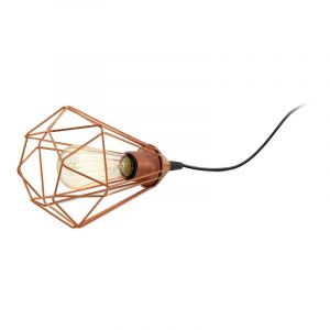Landelijke Industrieel Zwarte Koper tafellamp Kyomi