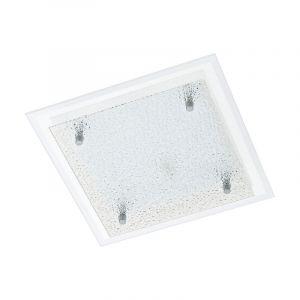 Moderne Glazen Witte Chroom wand/plafondlamp Djelina
