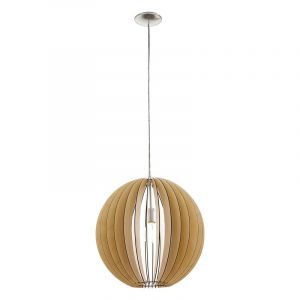 Hanglamp Bergama Grote houten bol