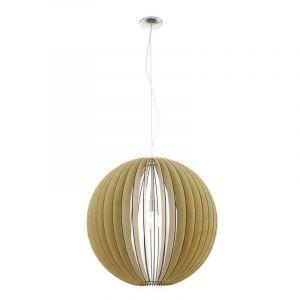 Grote bol hanglamp Bergamo Naturel hout