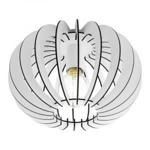 Stalen plafondlamp Kiran wit