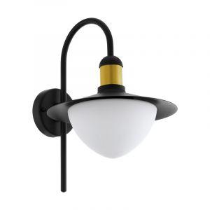 Moderne buiten wandlamp Jaylano Gegalvaniseerd Staal Zwart/Goud