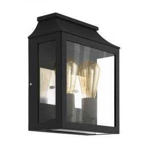 Moderne buiten wandlamp Lennox Gegoten Aluminium Zwart