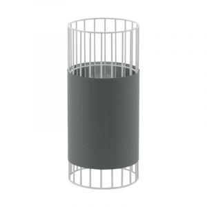 Grijze industriële tafellamp, Josje, glas