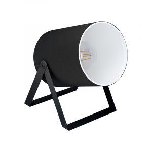 Zwarte landelijke tafellamp, Yvana, staal