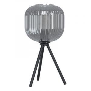 Zwarte tafellamp Elvera, staal