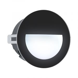 Zwarte moderne inbouwspot, Luigino, aluminium, 2,5w 4000K (wit) LED