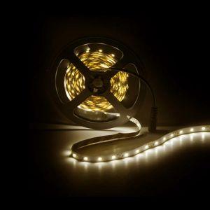 5m LED strip, Warm Wit (3000k), 12V, 60 leds p/m, 4,8W