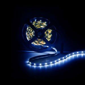 5m LED strip, blauw, 12V, 60 leds p/m, 4,8W