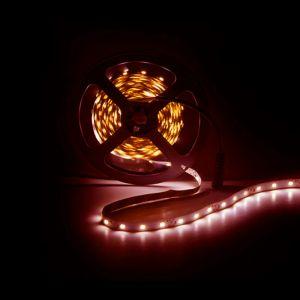 5m LED strip, Rood, 12V, 60 leds p/m, 4,8W
