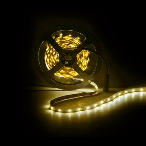 5m LED strip, geel, 12V, 60 leds p/m, 4,8W