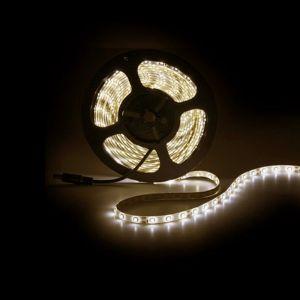 5m LED strip IP65, Warm Wit, 12V, 60 leds p/m, 4,8W
