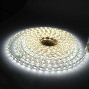 5 meter 220V LED strip, wit, IP67