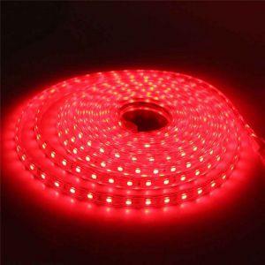 5 meter 220V LED strip, rood, IP67