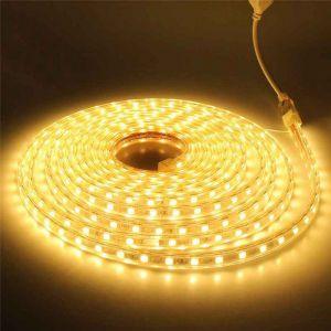 1 meter 220V LED strip, geel, IP67