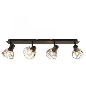 Industriële plafondspot Bram, zwart, 4L