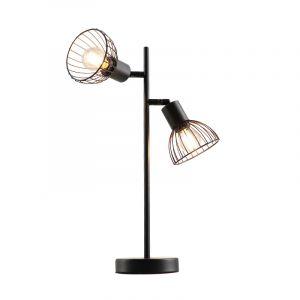 Industriële Tafellamp Bram, zwart