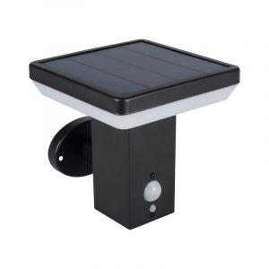 Solar buiten wandlamp Gian zwart, 4000k, vierkant