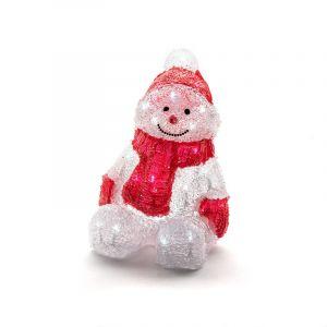 Acryl LED sneeuwpop, met 32 leds, voor binnen
