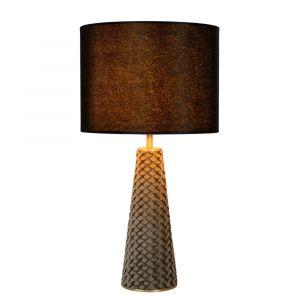 Zwarte Tafellamp Extravaganza Velvet, metaal