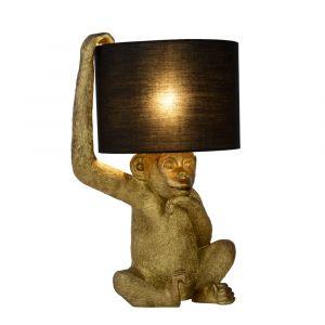 Zwarte Tafellamp Extravaganza Chimp, kunststof