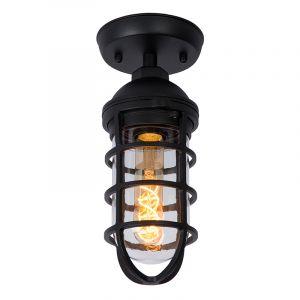 Zwarte landelijke buitenlamp, Limal, glas, IP44