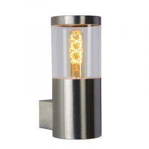 Moderne buitenlamp Fedor, Chroom