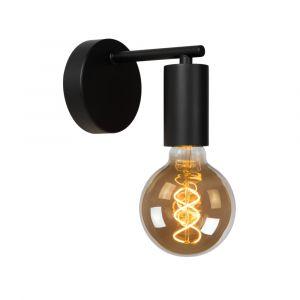 Zwarte wandlamp Leanne, metaal