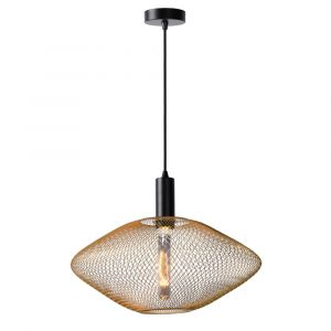 Gouden hanglamp Mesh, metaal