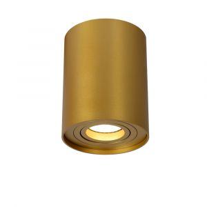 Gouden opbouwspot Tube, aluminium