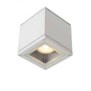 Witte plafondspot Aven, aluminium, IP65