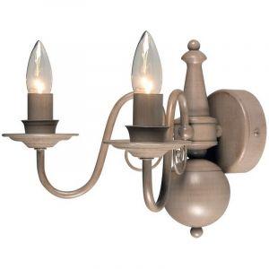 Klassieke Quincy wandlamp groot, taupe