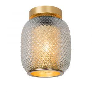 Gouden plafonniere Agathe, glas
